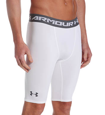 New Under Armour UA Men/'s HeatGear Armour Compression Shorts Long 1257472