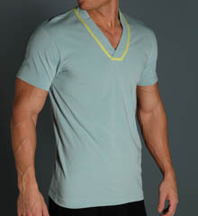 2xist 6551 Liquid Cotton Square Cut No-Show V-Neck T-Shirt at Sears.com