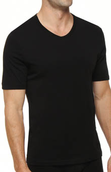 Boss Hugo Boss 100% Cotton V-Neck T-Shirts - 3 Pack 0236736