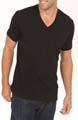 NB Black Cotton Shortsleeve V-Neck Image