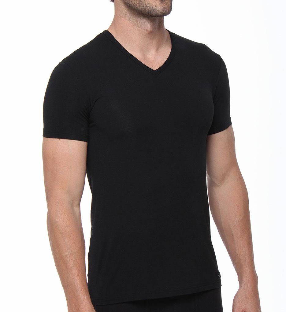 calvin klein t shirt calvin klein micro modal v neck t. Black Bedroom Furniture Sets. Home Design Ideas