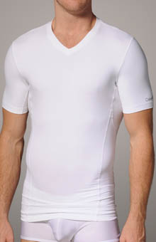 Calvin Klein U8603 Core Sculpt Compression Shortsleeve V-Neck