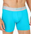 Diesel CG2JGACL Platinum Microfiber Sebastian Boxer Shorts Long $30