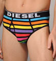 Diesel Rainbow Striped Cotton Stretch Brief CG3H-EVM