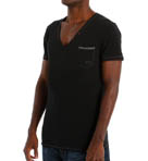 Jesse Cotton Stretch Deep V-Neck T-Shirt Image