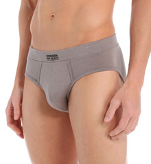 """HisRoom Diesel SJ64CAJL Jack Modal Underpants Brief (45647) These soft briefs feature """"Only the Brave"""" and the logo on the center of the waistband. Made of modal, cotton, and spandex. Covered elastic waistband with raised, soft plastic logo letters. Lined, contour pouch with vertical seaming for support. Seamless rear for a smooth look. Care/fabric tag attached at inner center back of waistband. Flyless."""