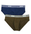 Dockers Cotton Stretch Hip Brief - 2 Pack D634