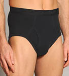 Black and Assorted Fly Front Brief - 4 Pack Image