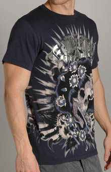 Ed Hardy A9DBFQZY Beautiful Ghost Metallic Foiled SS T-Shirt at Sears.com