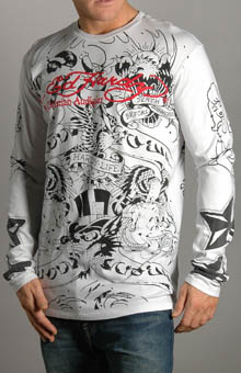 Ed Hardy A9DCFAQH Lover Life Allover LS T-Shirt at Sears.com
