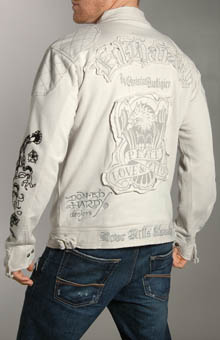 Ed Hardy A9DXHJGJ PLT Eagle Cotton Motorcycle Jacket at Sears.com