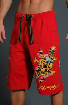 Ed Hardy EH8028JJ Death or Glory Knit Jersey Shorts at Sears.com
