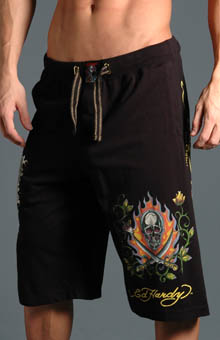 Ed Hardy EH8030JJ Two Swords Knit Jersey Shorts at Sears.com