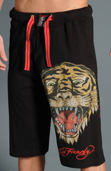 Ed Hardy EH8055JJ Open Mouth Tiger Knit Shorts at Sears.com