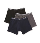 100% Cotton Boxer Briefs - 3 Pack Image