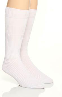 Florsheim Socks Classics Non Elastic Comfort Top Socks - 2 Pack W7306HR