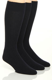 Florsheim Socks Classics True Rib Cushioned Sole Socks - 3 Pack W7308HR