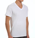 Mens Core 100% Cotton V-Neck T-Shirts - 3 Pack Image