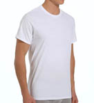Mens Core 100% Cotton Crew White T-Shirts - 3 Pack Image