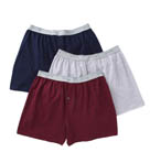 Exposed Waistband Knit Boxers - 3 Pack Image