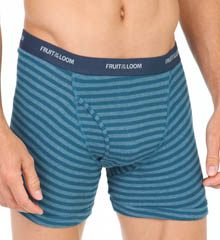 Fruit Of The Loom Assorted Stripes Low Rise Boxer Briefs - 4 Pack 4EL46L