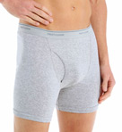 Mens Core 100% Cotton Basic Boxer Briefs - 4 Pack Image