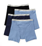 Big Man Core 100% Cotton Basic Boxer Brief- 4 Pack Image