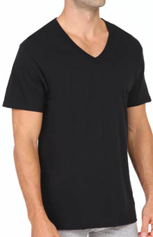 Fruit Of The Loom Black and Grey V-Neck T-Shirts - 4 Pack 4P25V01