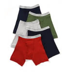 Mens Core 100% Cotton Assort Boxer Briefs - 5 Pack Image