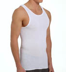 Mens Core 100% Cotton White A-Shirts - 5 Pack Image