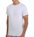 Mens Core 100% Cotton Crew White T-Shirts - 5 Pack Image