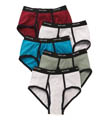 Fruit Of The Loom 100% Cotton Assort Ringer Fashion Briefs- 5 Pack 5R461C