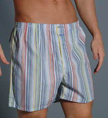 Giulio 0031826 Multi-stripe w/ side slits Woven Boxer at Sears.com