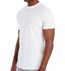 Hanes 2135 Original Cotton White Crew Neck T-Shirts - 3 Pack