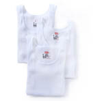 Original Cotton White A-Shirts - 3 Pack Image