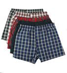 Premium Cotton Woven Tartan Boxers - 5 Pack Image