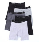 Stretch Black and Grey Boxer Briefs - 5 Pack Image