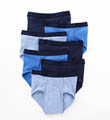 Assorted Blue Full Rise Briefs - 7 Pack Image