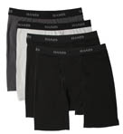 Cotton Stretch Wicking Long Boxer Briefs - 4 Pack Image