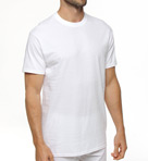 Premium Cotton White Crew Neck T-Shirts - 3 Pack Image