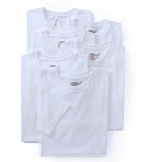 Premium Cotton White Crew Neck T-Shirts - 6 Pack Image