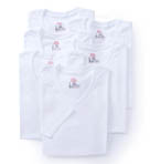 Premium Cotton White V-Neck T-Shirts - 6 Pack Image