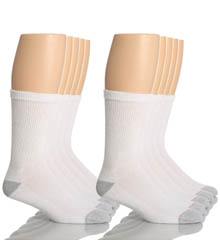 Hanes 84-10 Classic Super Soft Cotton Crew Socks - 10 Pack