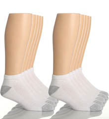 Hanes 88-10 Classic Super Soft Cotton Low Cut Socks - 10 Pack