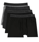 Black and Grey Slim Fit Boxer Briefs - 4 Pack Image