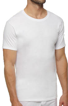 Hanes Slim Fit White Crewneck T-Shirts - 3 Pack CST1W3