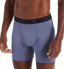 Hanes X-Temp Dyed Poly Boxer Brief - 3 Pack UPB1A3