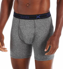 Hanes UPB1B3 X-Temp Poly Boxer Brief- 3 Pack