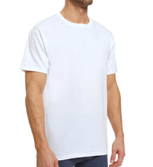 Hanes UTT1W3 White X-TEMP Crewneck T-Shirts - 3 Pack