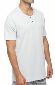 Hanro Jayden Short Sleeve Henley T-Shirt 5193